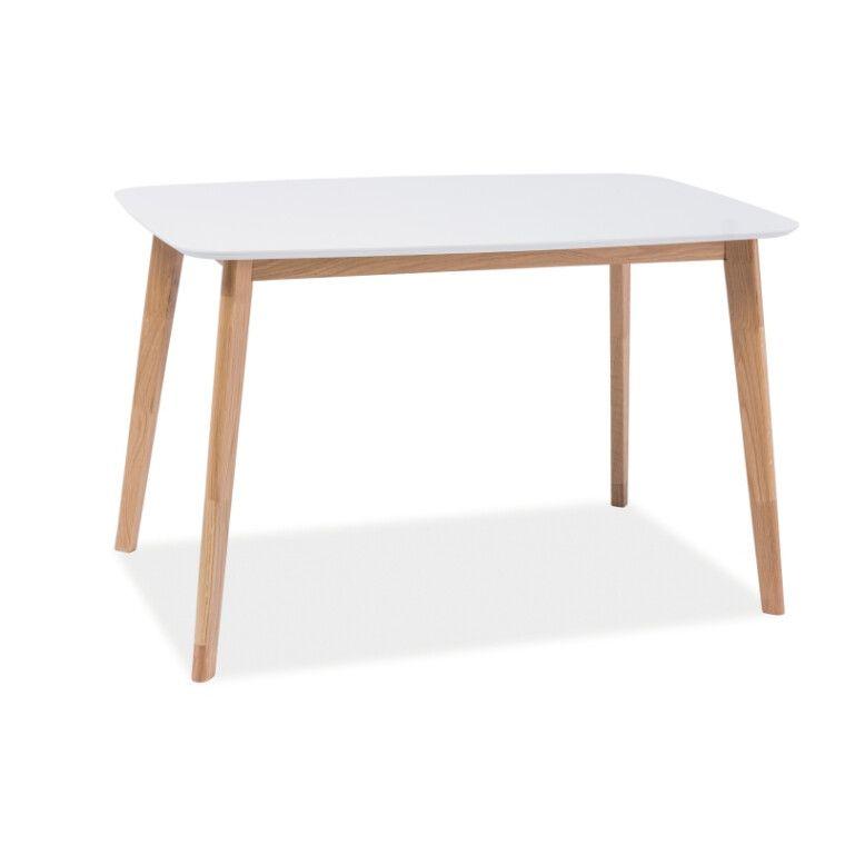Стол обеденный Signal Mosso I | Белый / дуб