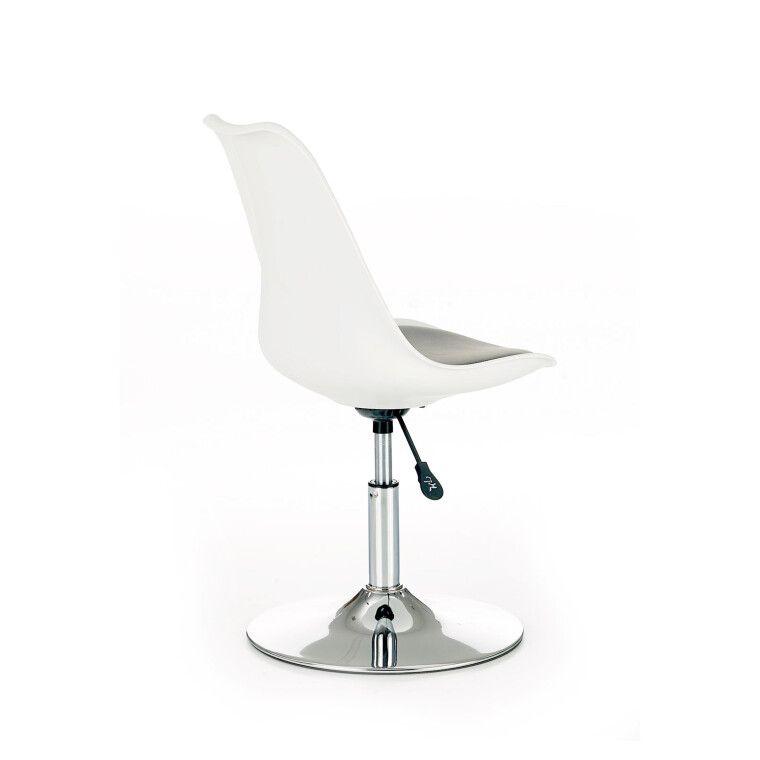 Кресло поворотное Halmar Coco 3   Белый / черный - 4