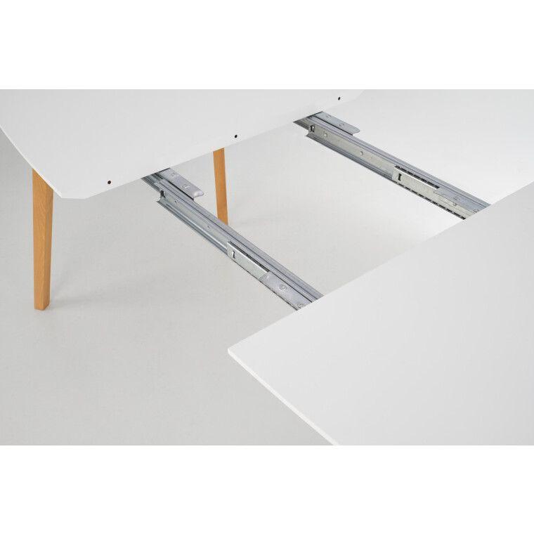 Стол раскладной Halmar Kajetan   82х135 / Белый / Дуб медовый фото - 5
