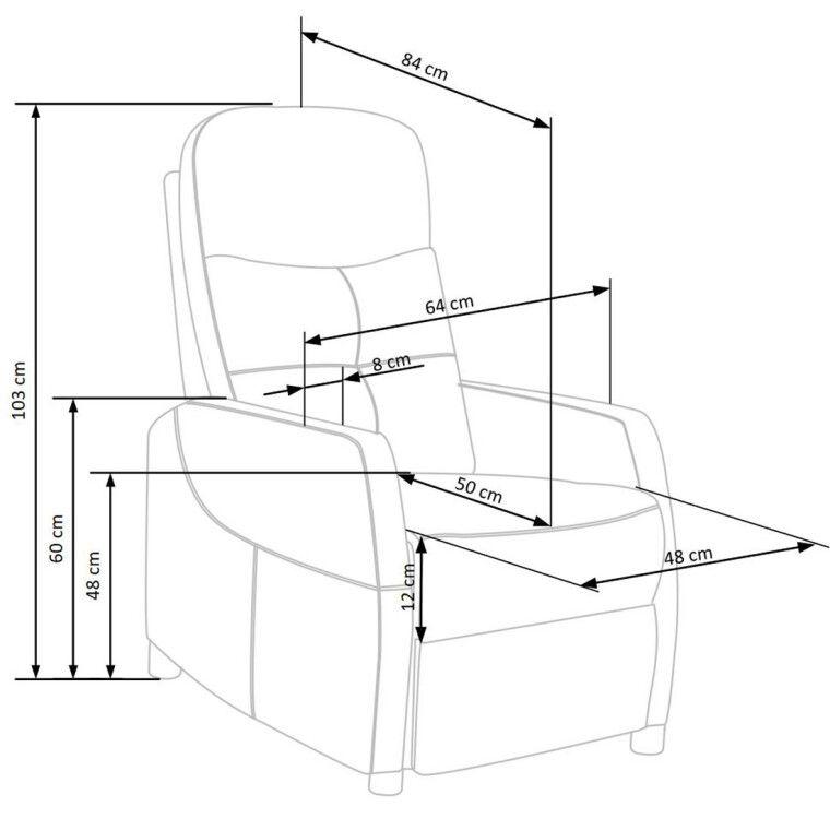 Кресло Halmar Felipe| Серый - 9