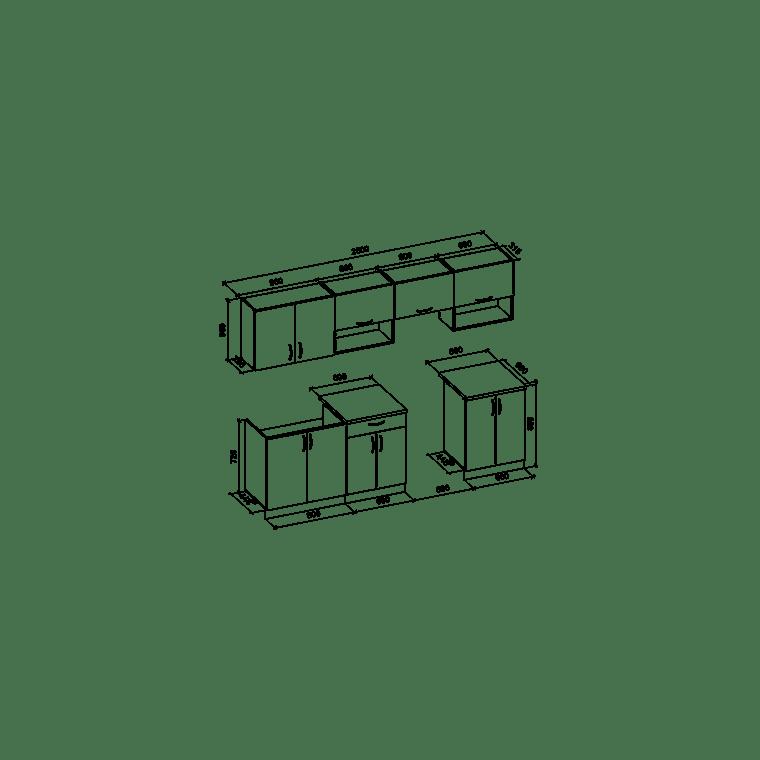 Кухонный гарнитур Halmar Viola 260 | Дуб Сонома / белый - 2