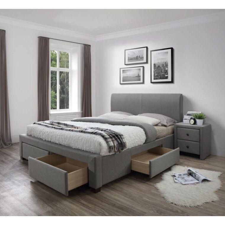 Кровать Halmar Modena   140х200 / Серый