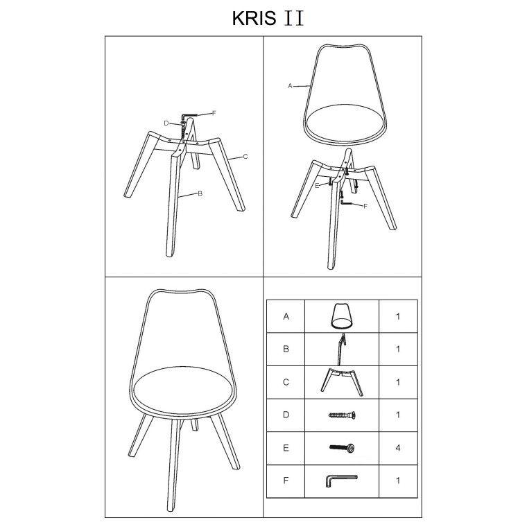 Cтул Signal Kris II | Белый/черный фото - 2