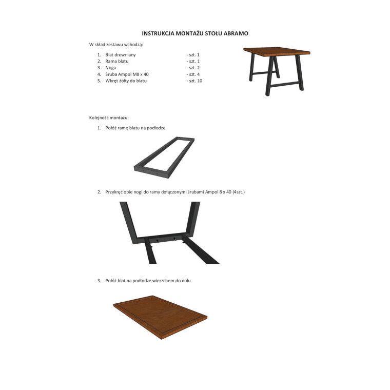 Стол обеденный Signal Abramo | Шпон / 90х150 - 3
