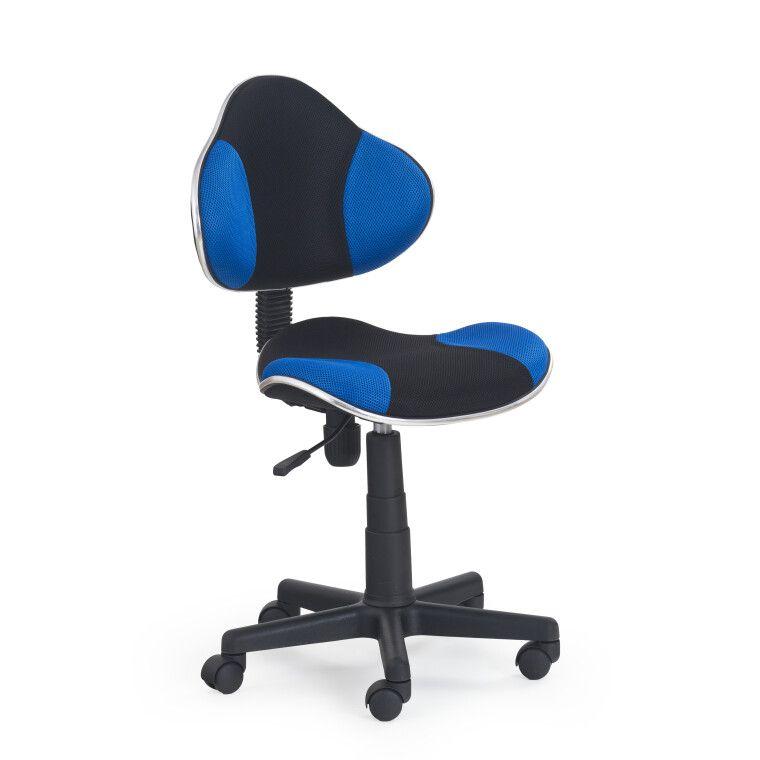 Кресло поворотное Halmar Flash | Черный / синий