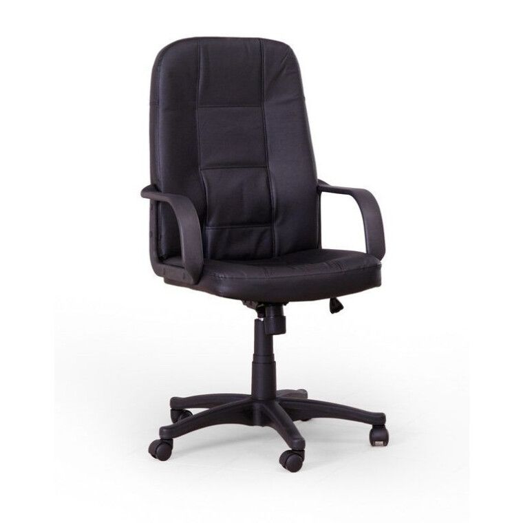 Кресло поворотное Halmar Expert   Черный / Натуральная кожа