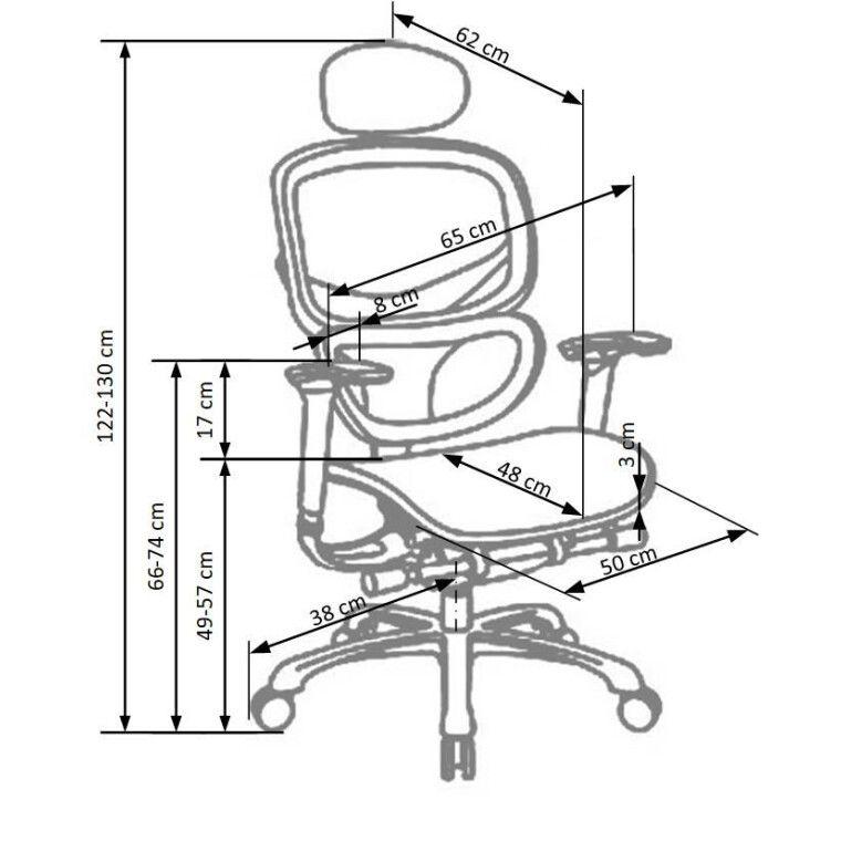 Кресло поворотное Halmar President    Черный - 2