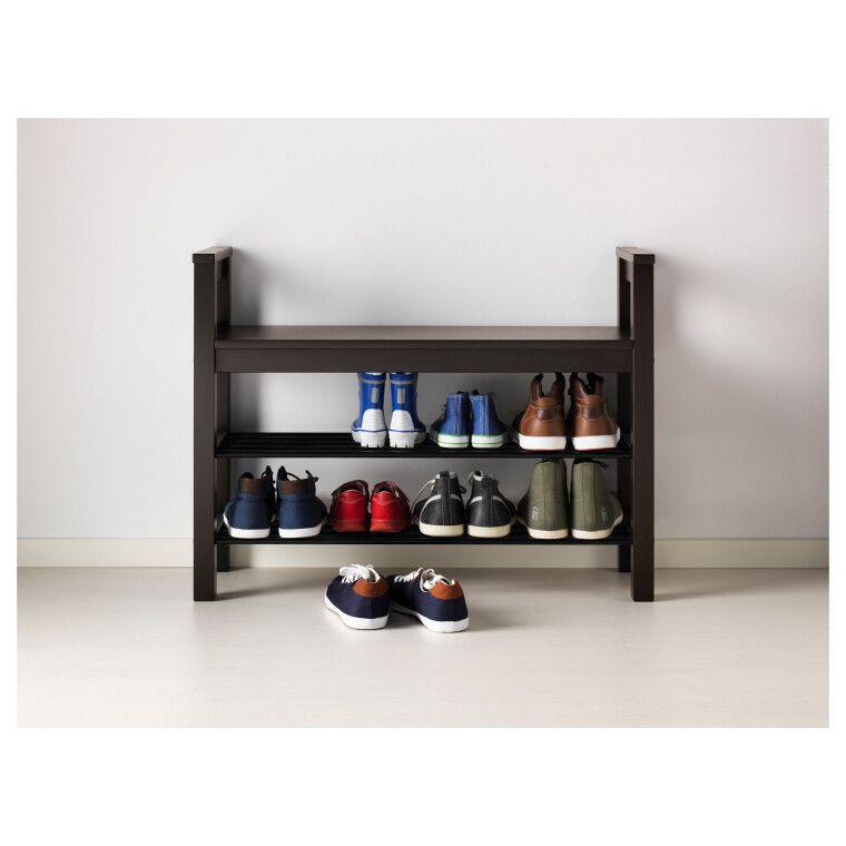 Скамья с полками для обуви HEMNES - 6