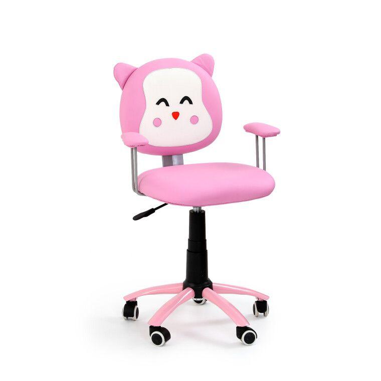 Кресло поворотное Halmar Kitty   Розовый