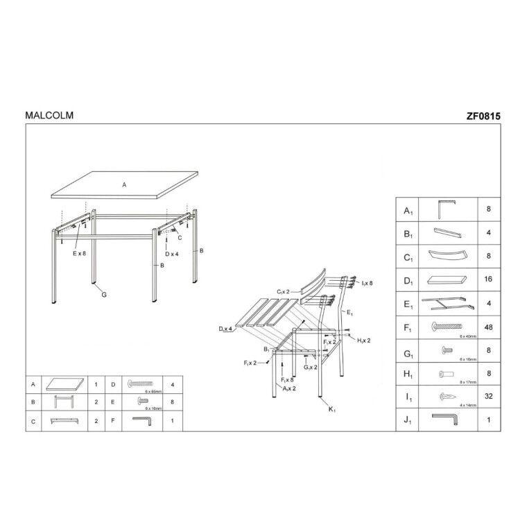 Набор мебели столовой Halmar Malcolm   Венге - 2