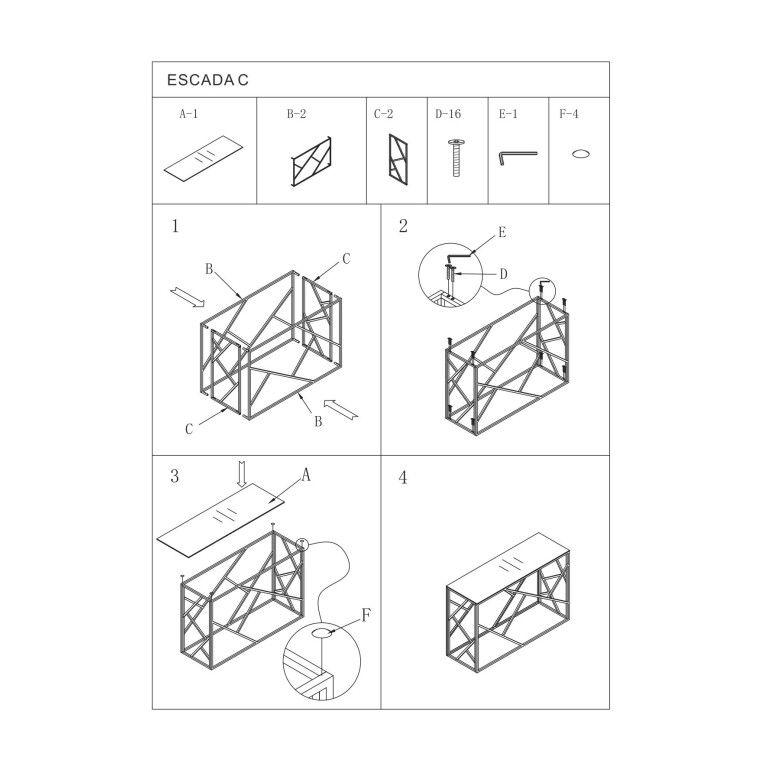 Столик журнальный Signal Escada C | Хром - 2