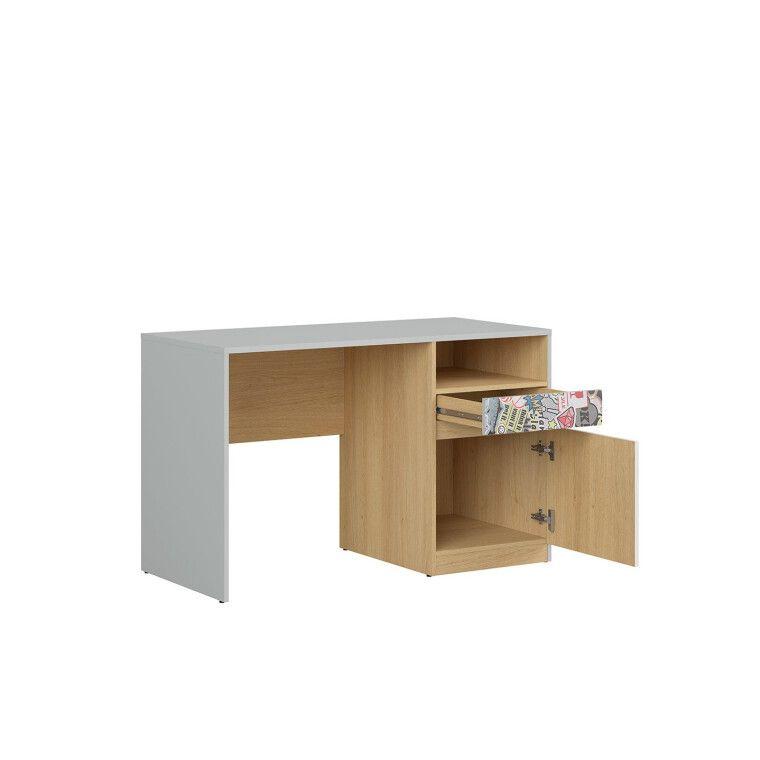 Стол письменный BRW Nandu | Светло-серый / Дуб / Белый глянец / Комикс - 3