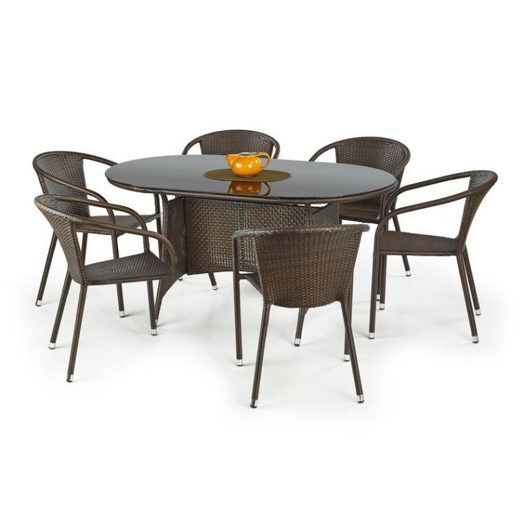 Стол садовый Halmar Master | Коричневый / черный