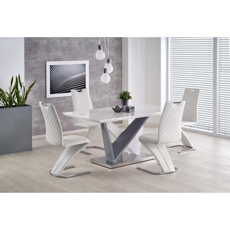 Стол обеденный Halmar Cortez | Белый / серый - 2
