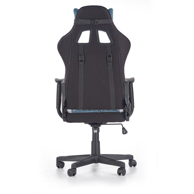 Кресло поворотное Halmar Cayman | Серый / Бирюзовый - 3