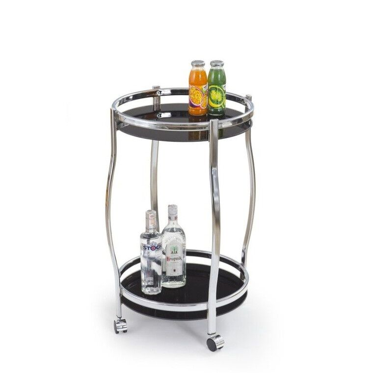 Стіл сервірувальний Halmar Bar-8 | Чорний