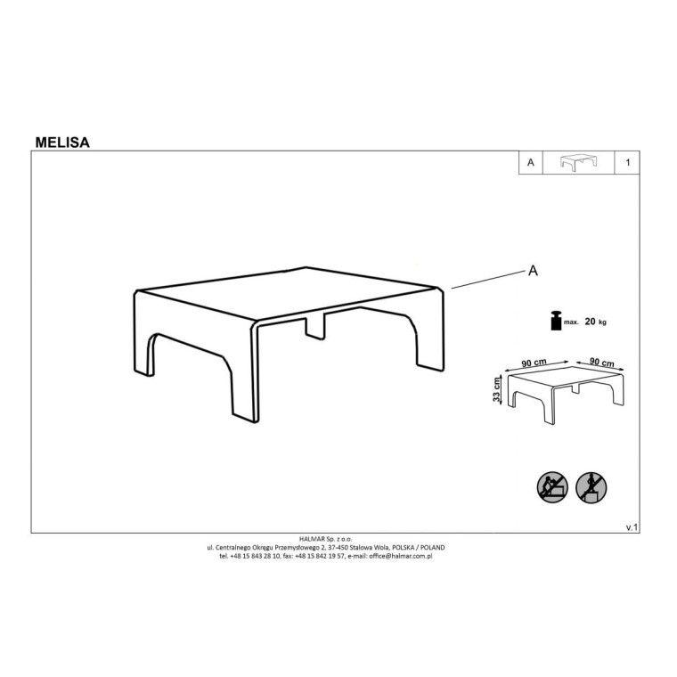 Стол журнальный Halmar Melisa | Прозрачный - 2