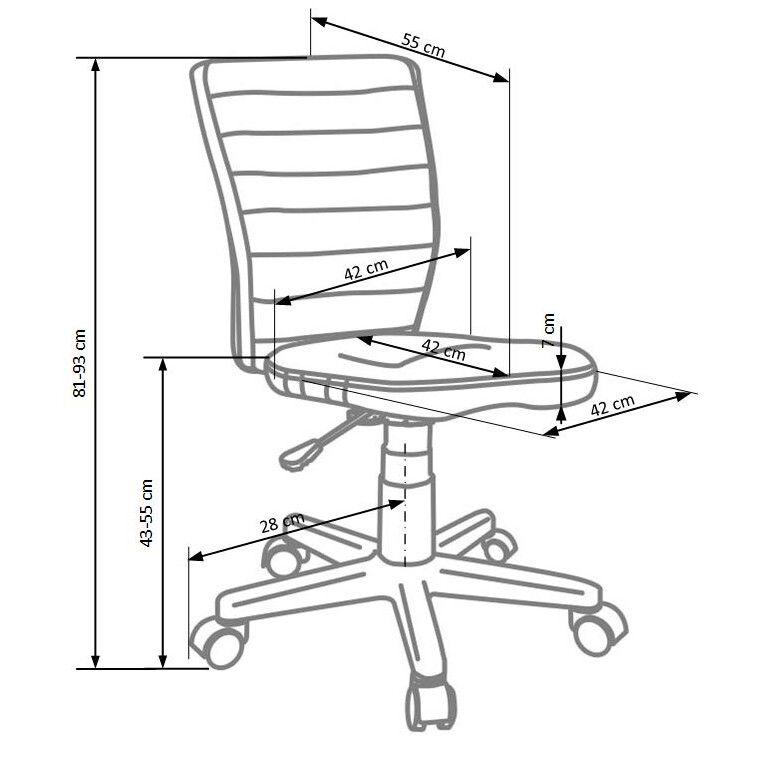 Кресло поворотное Halmar Fuego | Фиолетовый / серый - 2