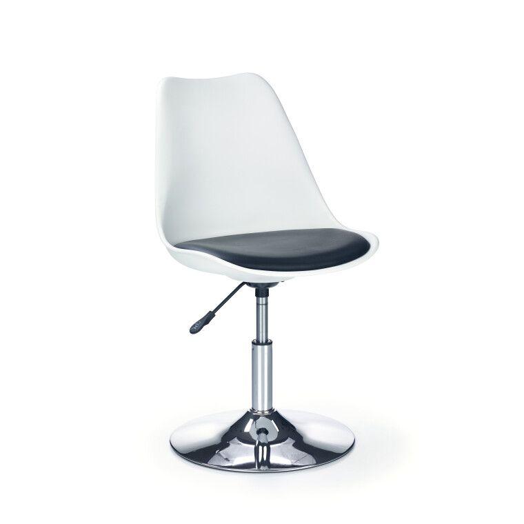 Кресло поворотное Halmar Coco 3   Белый / черный