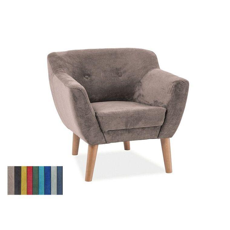 Мягкое кресло Signal Bergen 1  | Бежевый (Tap. 1617) фото