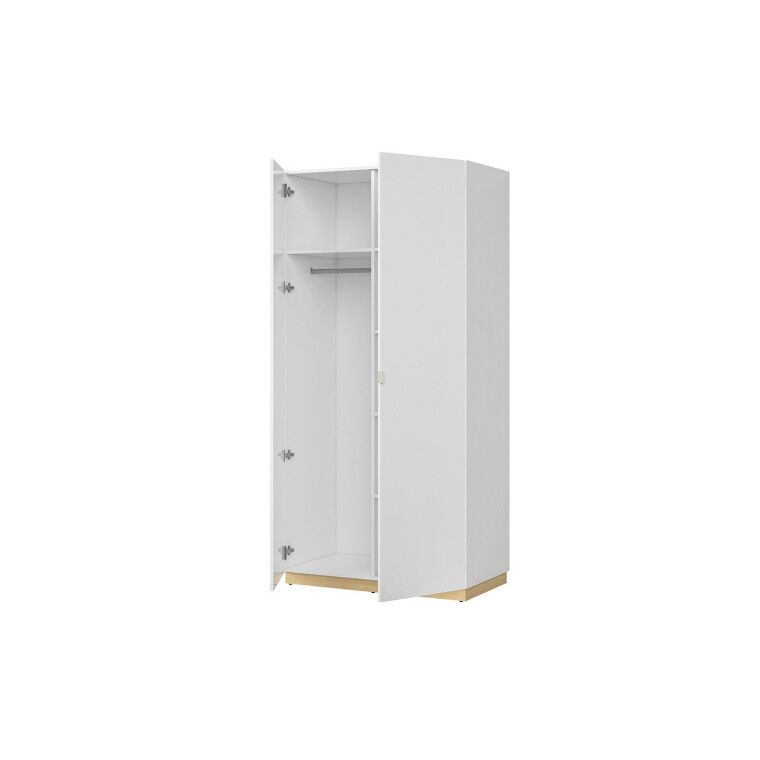 Шкаф BRW Princeton | Белый / Дуб польский / Серый - 3