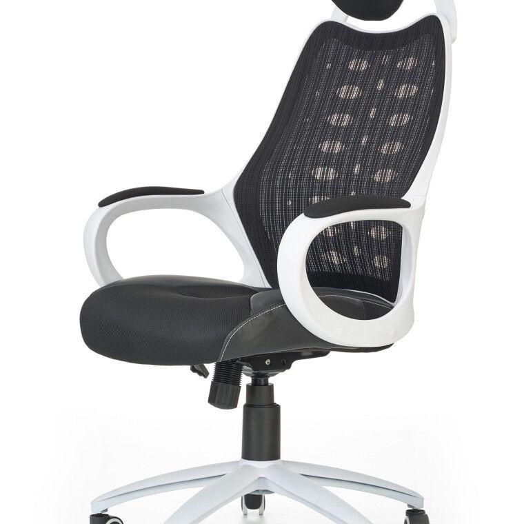 Кресло поворотное Halmar Striker 2 | Черный / белый - 4