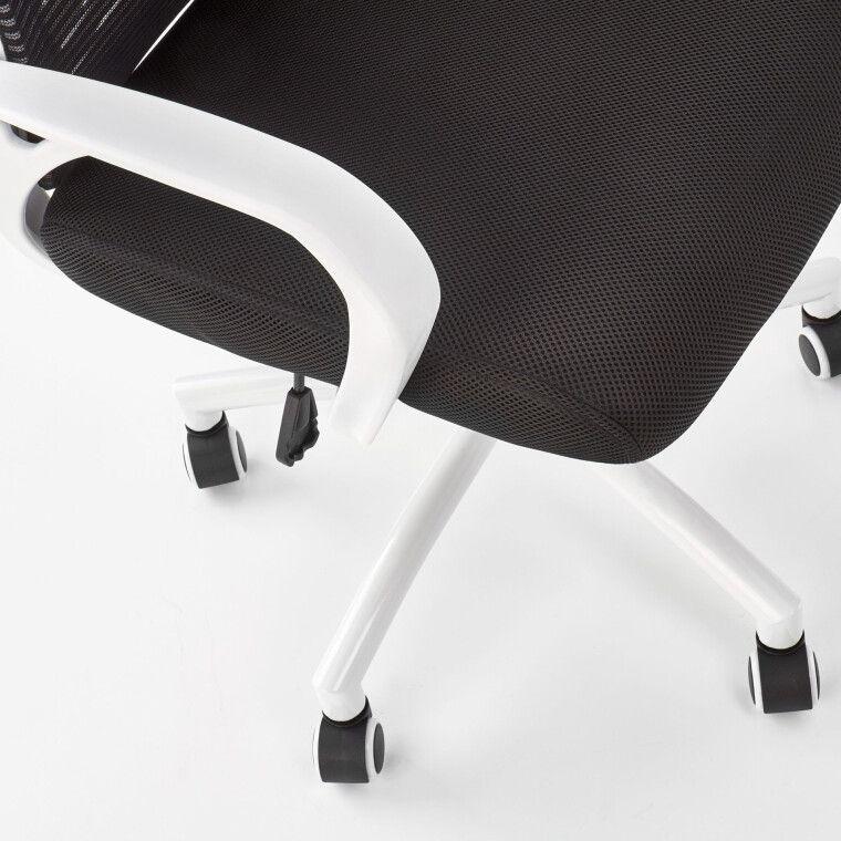 Крісло поворотне Halmar Socket | Чорний / Білий - 6