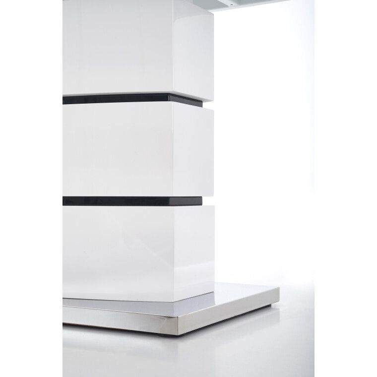 Стол раскладной Halmar Nobel | Белый / Черный - 4