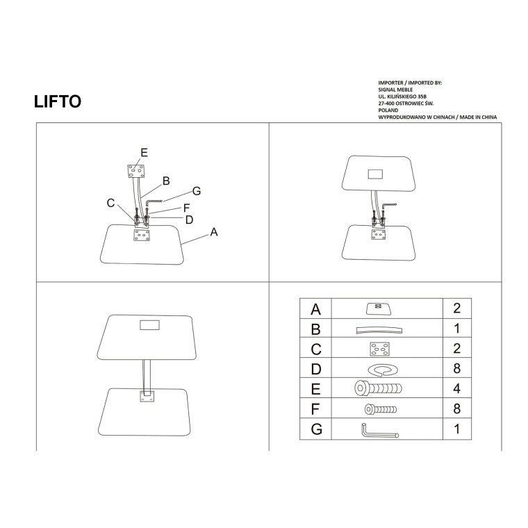 Столик журнальный Signal Lifto | Белый - 3