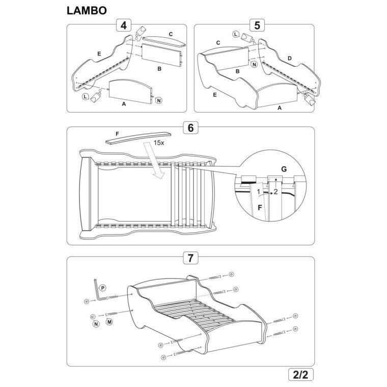 Кровать детская Halmar Lambo | Гоночная машина - 4