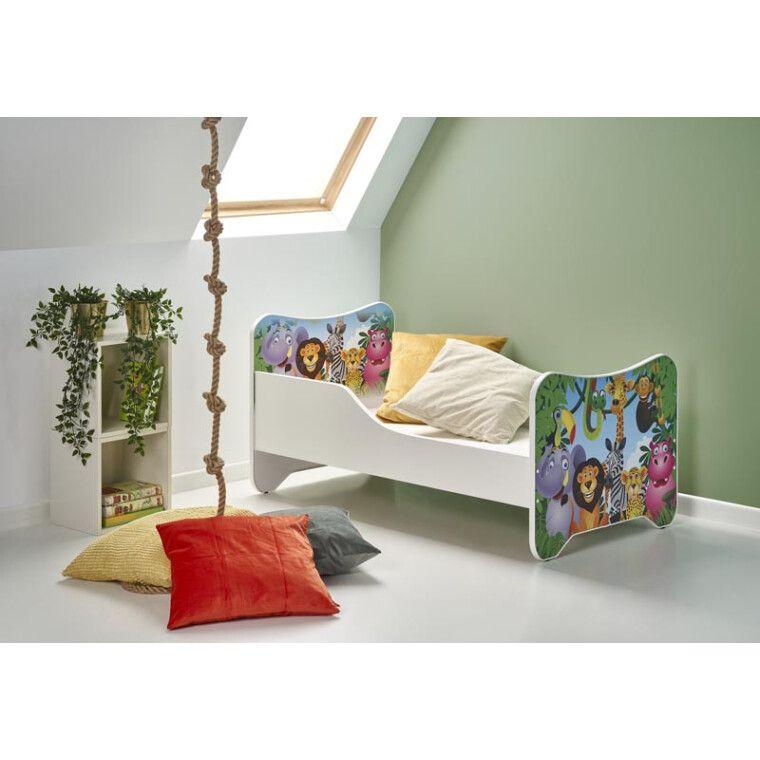 Кровать детская с матрасом Halmar Happy Jungle | Джунгли
