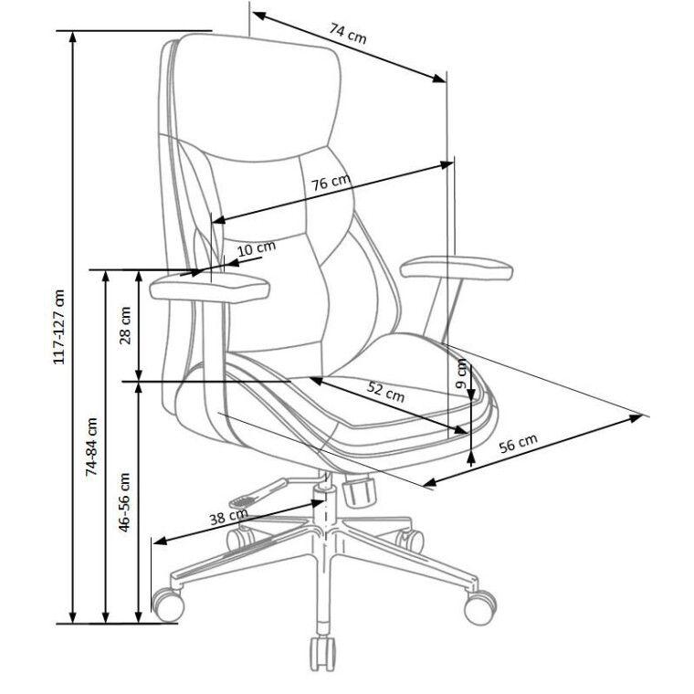 Кресло поворотное Halmar Imperator | Черный - 3