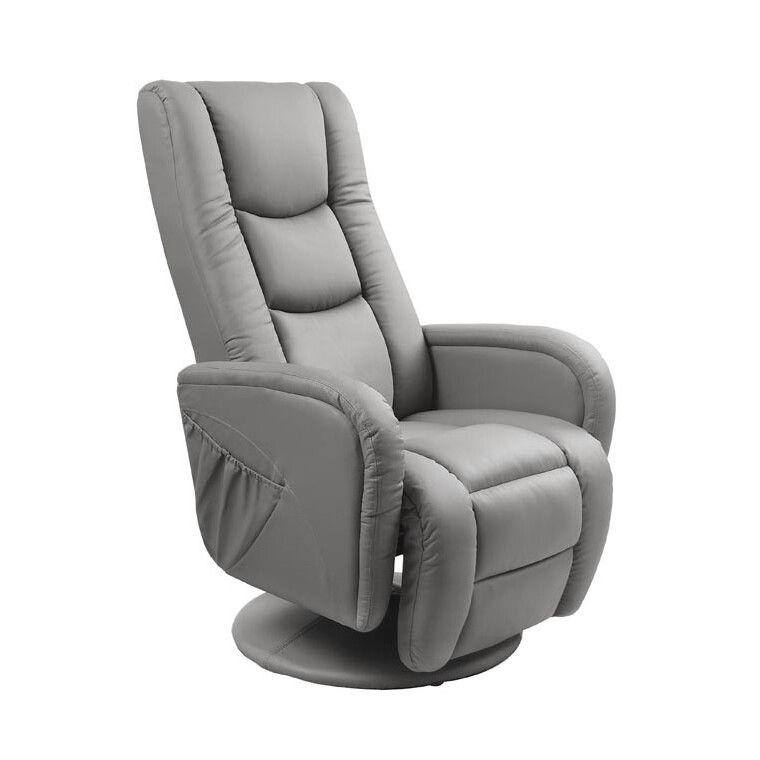 Кресло с массажем и подогревом Halmar Pulsar   Серый