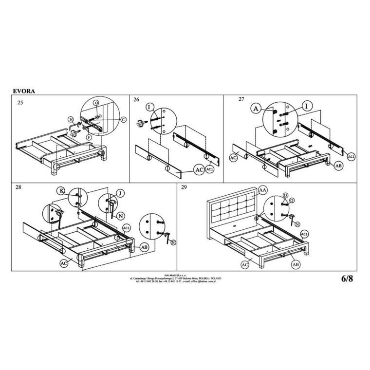 Кровать Halmar Evora | 160х200 /  Бежевый - 13