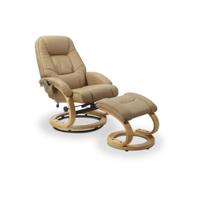 Кресло массажное с подставкой для ног Halmar Matador | Бежевый