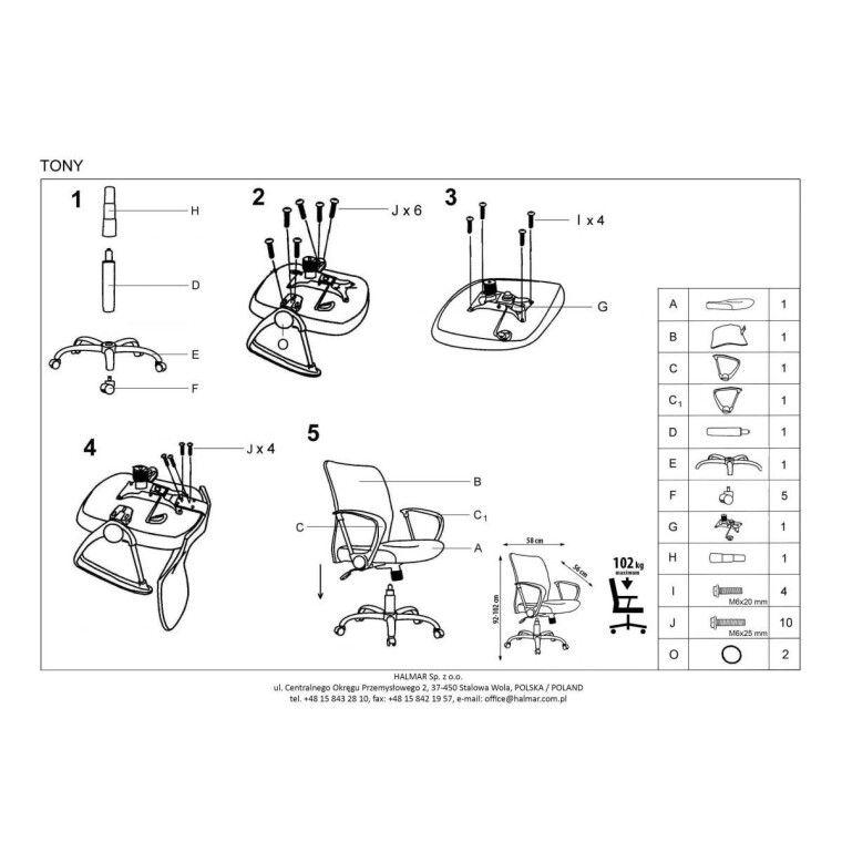 Кресло поворотное Halmar Tony | Зеленый - 2