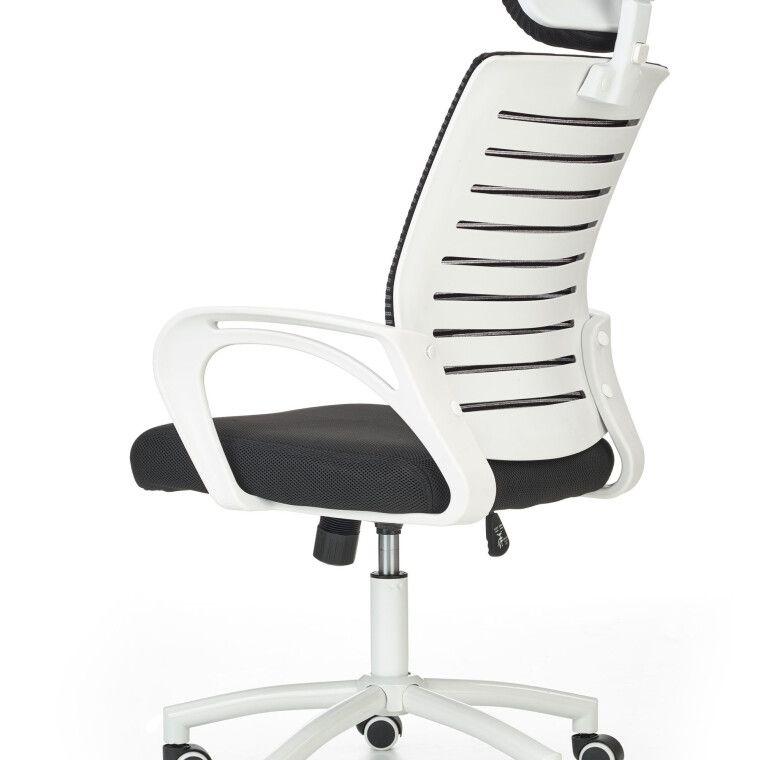 Крісло поворотне Halmar Socket | Чорний / Білий - 4
