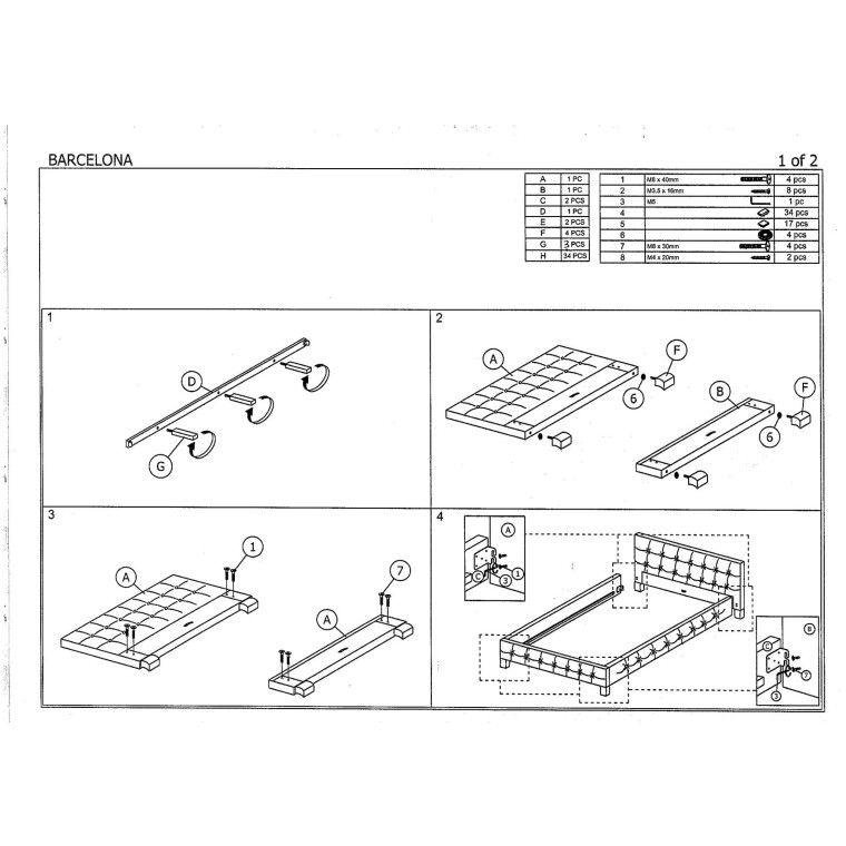 Кровать Signal Barcelona | 160х200 / Белый / Венге - 2