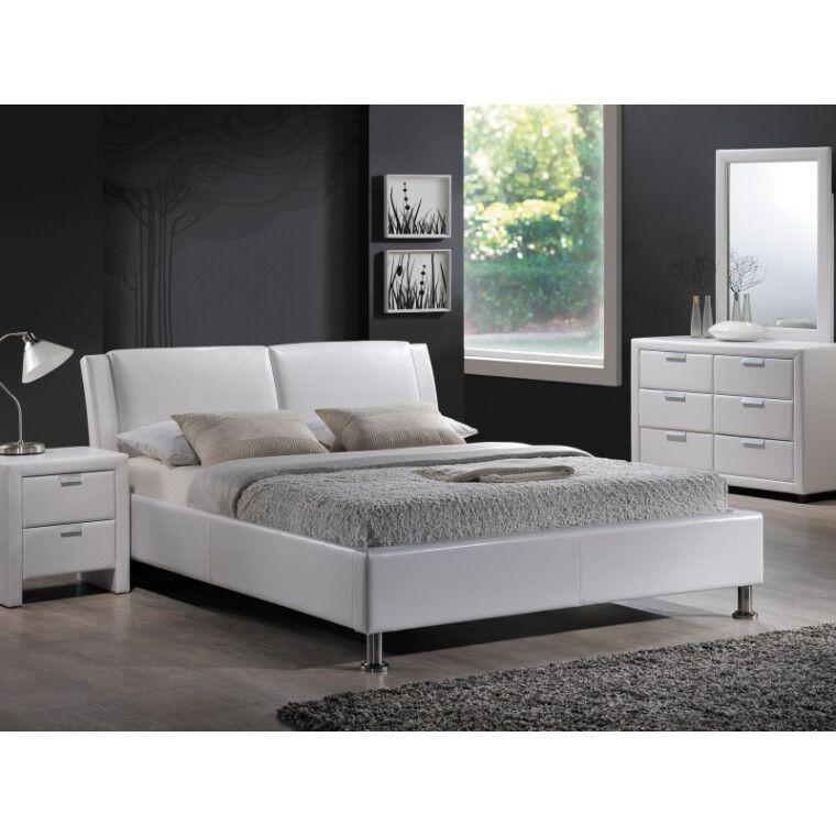 Кровать Signal Mito | 140х200 / Белый / Хром