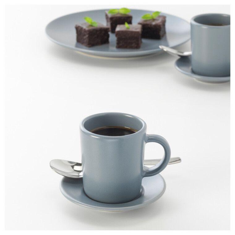 Чашка для кофе эспрессо с блюдцем DINERA - 2