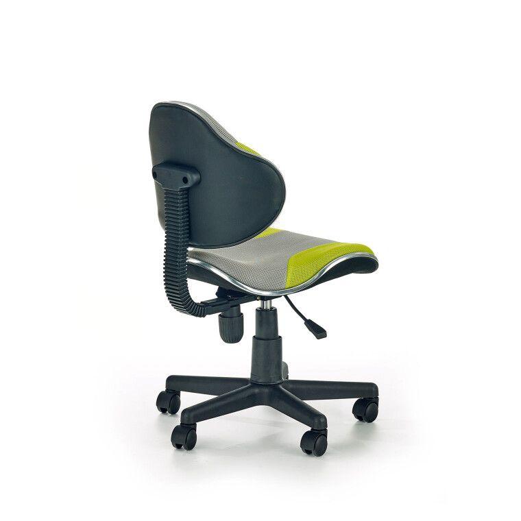 Кресло поворотное Halmar Flash 2 | Серый / зеленый - 4