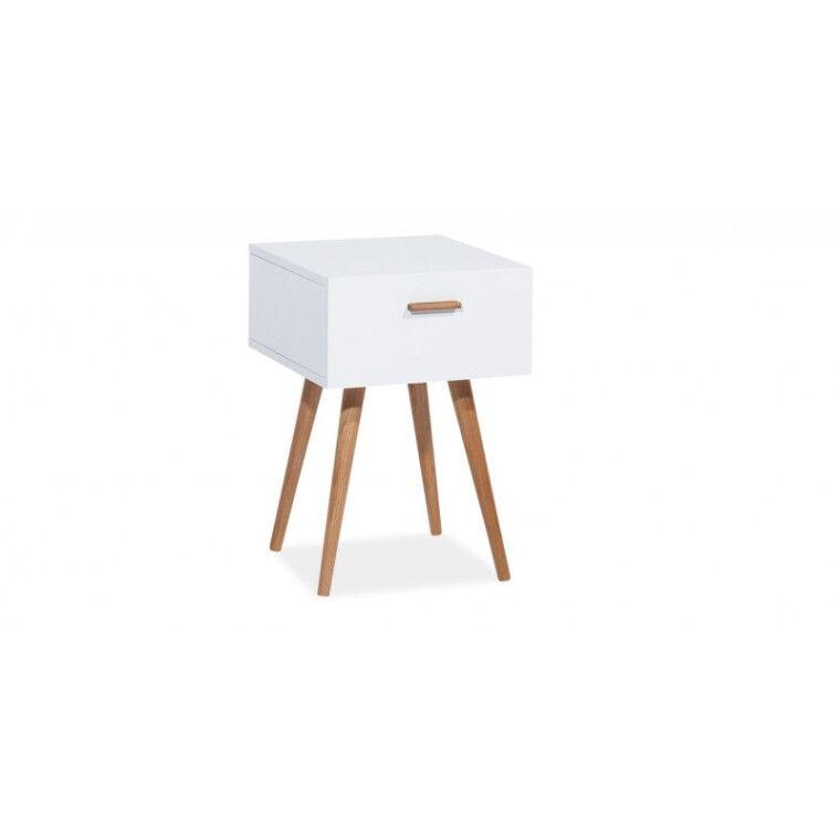 Столик Signal Milan S3 | Белый / дуб