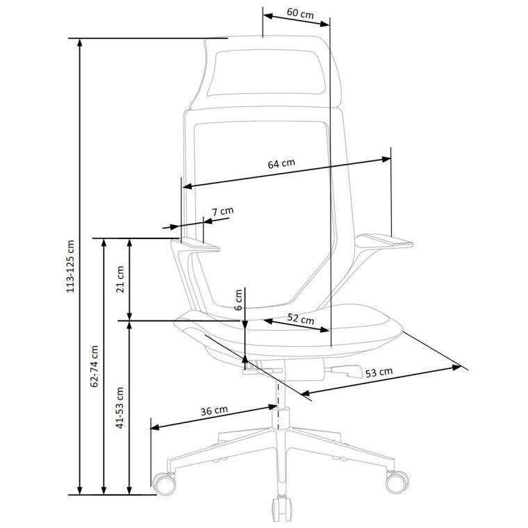 Кресло поворотное Halmar Genesis 2 | Черный - 2