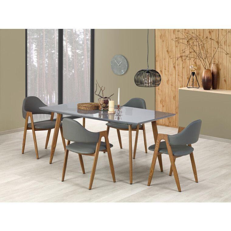 Стол раскладной Halmar Ruten | Дуб медовый / Серый фото