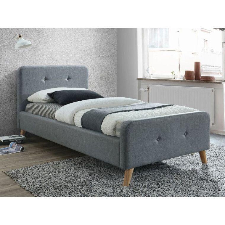 Кровать Signal Malmo | 90х200 / Серый / Дуб