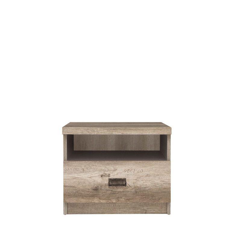 Тумба прикроватная BRW Malcolm | Дуб каньон / Серый вольфрам - 2