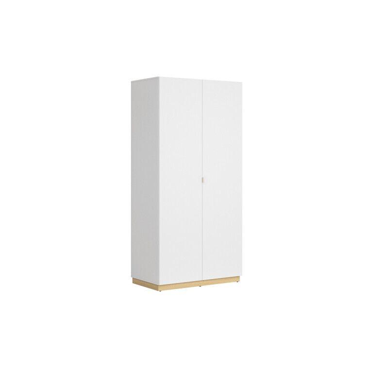Шкаф BRW Princeton | Белый / Дуб польский / Серый - 2