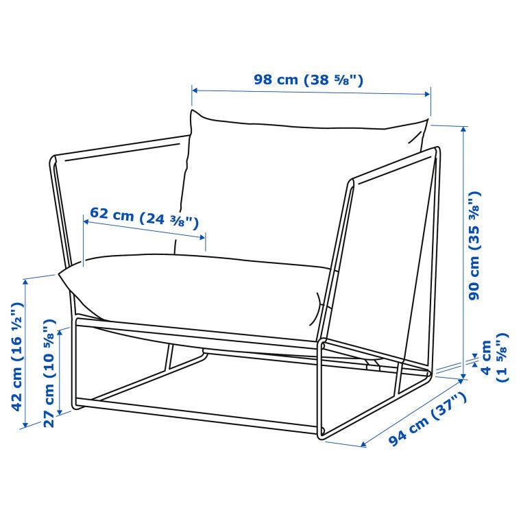 Кресло садовое HAVSTEN - 3