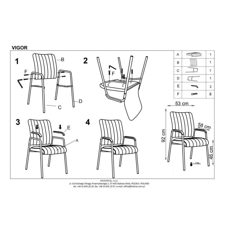 Кресло офисное Halmar Vigor | Черный - 3