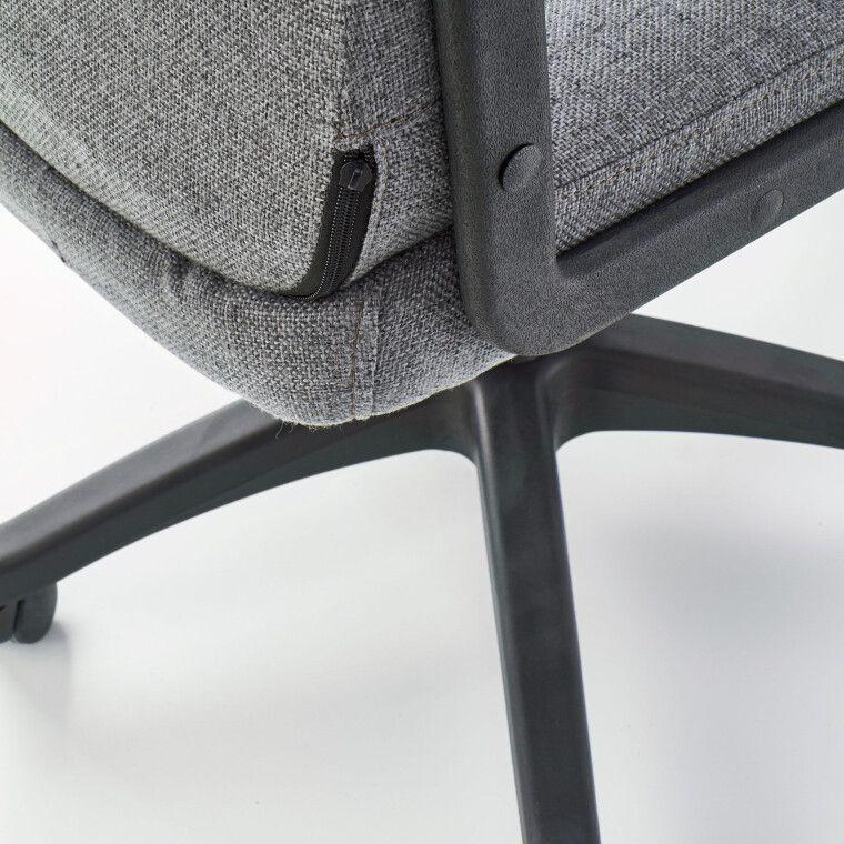 Крісло поворотне Halmar Rino | Сірий - 4